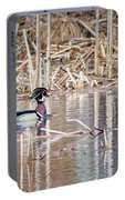 Wood Duck Drake 2018 Square Portable Battery Charger
