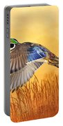 Wood Duck In Flight Portable Battery Charger