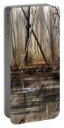 Wood Duck On Pond Portable Battery Charger