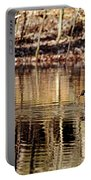 Wood Ducks Enjoying The Pond Portable Battery Charger