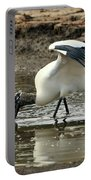 Wood Stork Fishing Portable Battery Charger