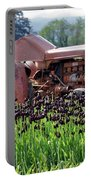 Woodburn Oregon - Tractor And Field Of Tulips Portable Battery Charger