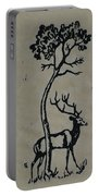 Woodcut Deer Portable Battery Charger