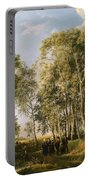 Wooded Landscape With A Group Of Figures In Costume Portable Battery Charger