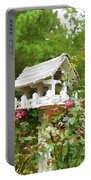 Wooden Bird House On A Pole 3 Portable Battery Charger