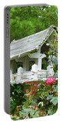 Wooden Bird House On A Pole 4 Portable Battery Charger