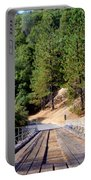 Wooden Bridge Over Deep Gorge Portable Battery Charger