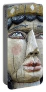 Wooden Carving In Santa Fe 8 Portable Battery Charger