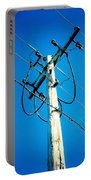 Wooden Electric Pole Portable Battery Charger