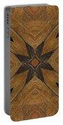 Wooden Maltese Cross Fresco Portable Battery Charger