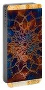 Wooden Mandala Portable Battery Charger by Hakon Soreide