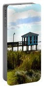 Wooden Pier With Pavilion Portable Battery Charger