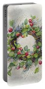 Woodland Berry Wreath Portable Battery Charger