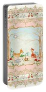 Woodland Fairy Tale - Blush Pink Forest Gathering Of Woodland Animals Portable Battery Charger
