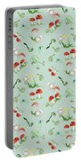 Woodland Fairy Tale - Red Mushrooms N Owls Portable Battery Charger