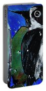 Woodpecker With Prickly Pear Cactus  Portable Battery Charger