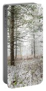 Woods In Winter At Retzer Nature Center  Portable Battery Charger
