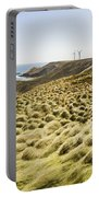 Woolnorth Wind Farm And Ocean Landscape Tasmania Portable Battery Charger