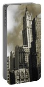 Old New York Photo - Historic Woolworth Building Portable Battery Charger