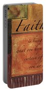 Words To Live By Faith Portable Battery Charger