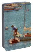 Work These Sails Honey Boothbay Harbor Maine Portable Battery Charger