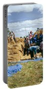 Workers Loading Rice Portable Battery Charger