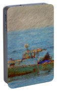 Working Hard Lobster Boat Smugglers Cove Boothbay Harbor Maine Portable Battery Charger