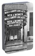 World Famous Love Acts French Quarter New Orleans Louisiana 1976-2012 Portable Battery Charger