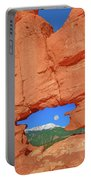 World-famous Pikes Peak Framed By What We Call The Keyhole  Portable Battery Charger