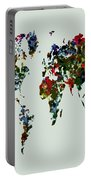 World Map 12b Portable Battery Charger