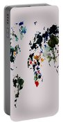 World Map 14b Portable Battery Charger