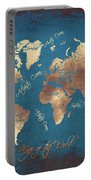 World Map 2065 Portable Battery Charger
