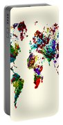 World Map 9b Portable Battery Charger