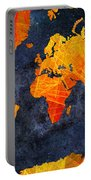 World Map - Elegance Of The Sun - Fractal - Abstract - Digital Art 2 Portable Battery Charger