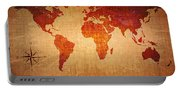 World Map Grunge Style Portable Battery Charger