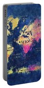 World Map Oceans And Continents Portable Battery Charger