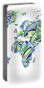 World Map Organic Green And Blue Portable Battery Charger