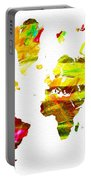 World Map Painted Portable Battery Charger