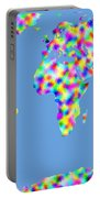 World Map Palette Portable Battery Charger