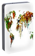 World Map Running Paint 01 Portable Battery Charger