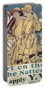 World War I Ywca Poster  Portable Battery Charger
