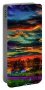 World's Most Psychedelic Autumn Sunsset Portable Battery Charger