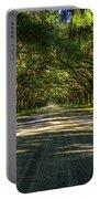 Shadows Of Wormsloe Plantation Oak Avenue Georgia Art Portable Battery Charger