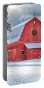 Wreath On A Barn Portable Battery Charger