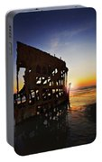 Wreck Of The Peter Iredale-b Portable Battery Charger