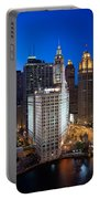Wrigley Building Night Portable Battery Charger