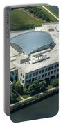 Wrigley Global Innovation Center In Chicago Aerial Photo Portable Battery Charger