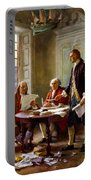 Writing The Declaration Of Independence Portable Battery Charger