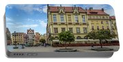Wroclaw Market Square, New Town Hall And Tenement Houses Portable Battery Charger
