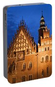 Wroclaw Old Town Hall At Night Portable Battery Charger